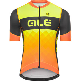 Alé Cycling R-EV1 Rumbles SS Jersey Men black-fluo org-fluo yellow